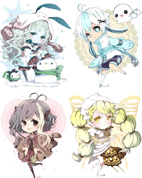 Chibi commissions for moondust70 by inma on deviantart