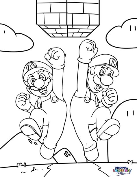 super mario bros coloring pages to print coloringstar for brothers