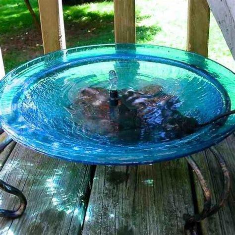 solar bubbler bird bath deck mount  ground stand