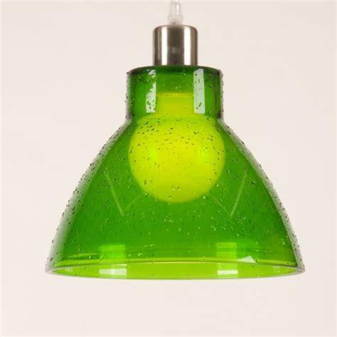 retro green glass ceiling pendant light shade funky