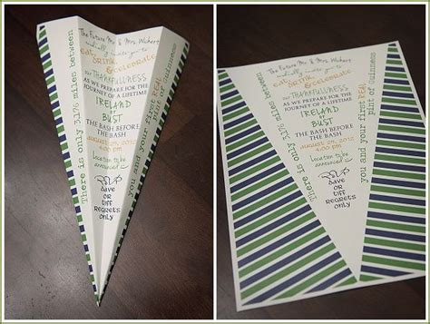 travel them invitation paper airplane paper love
