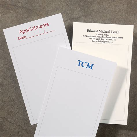 Custom Note 16 100 personalized 3 x 5 cards vertical levenger