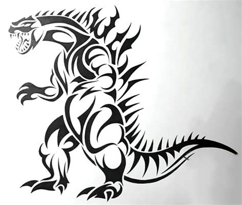 Tribal Dinosaur  Ee  Tattoo Ee   Design