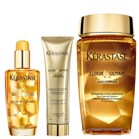 Kerastase Exilire Ultime 100ml k 233 rastase elixir ultime huile lavante bain 250ml cr 232 me 150ml and original hair 100ml