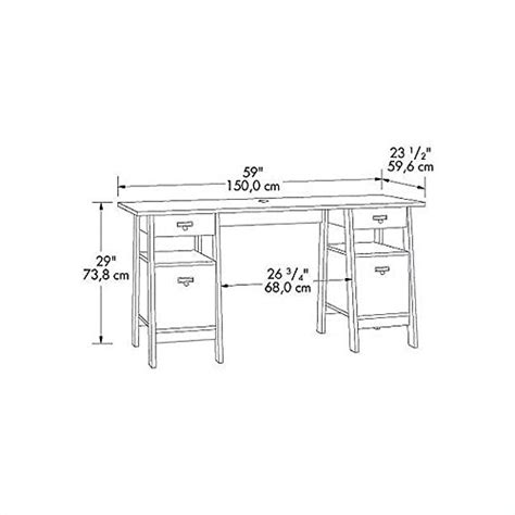 Sauder Desk Replacement Parts sauder executive trestle desk jamocha wood finish furniture office furniture