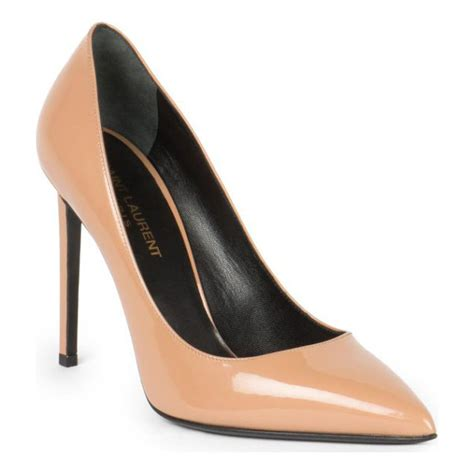 Anya Suede Lower Heel laurent patent leather pumps nudevotion