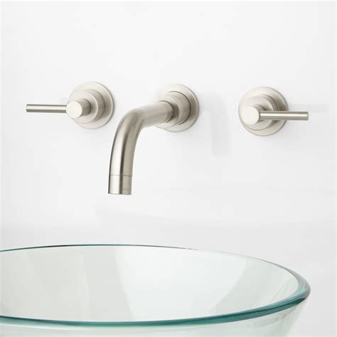 wall mount sink height wall mount faucet height for vessel sink