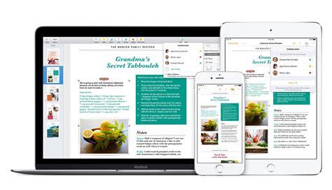 apple pages recipe template iwork garageband und imovie apps sind jetzt kostenlos
