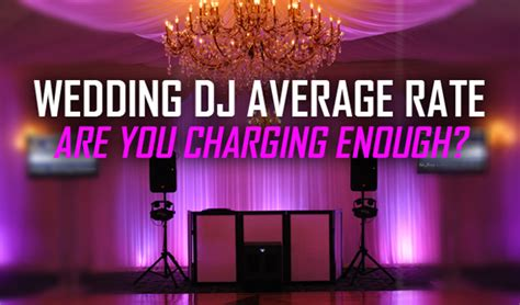 average wedding dj cost mn wedding dj average rate in 2013 are you charging enough pcdj