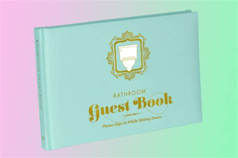 Bathroom Books Bathroom Guest Book Is For Anyone Who Spends