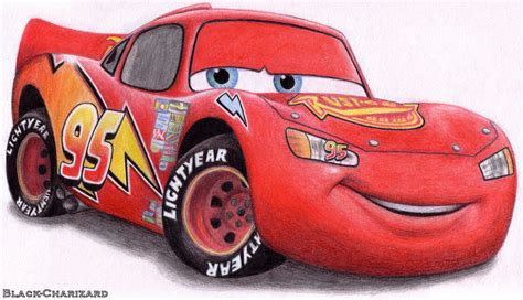 lightning mcqueen painting lightning mcqueen by black charizard on deviantart