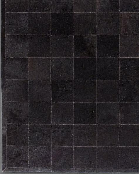 Cowhide Tile Rug South American Cowhide Tile Rug Black