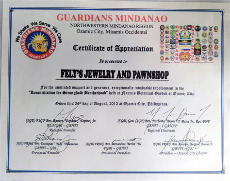 jewelry design certificate programs nyc certificate of appreciation in the philippines gallery