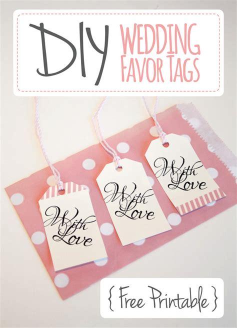 diy bridal shower favor tags 50 printable thank you cards