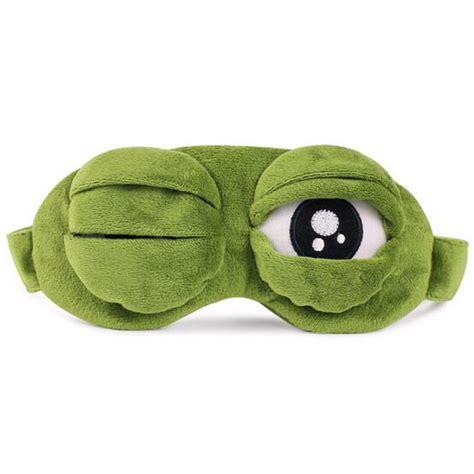 sleeping mask model kodok dengan bag green jakartanotebook