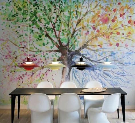 wandtattoo lebensbaum kinderzimmer 25 dekoideen f 252 r wandtattoo im esszimmer