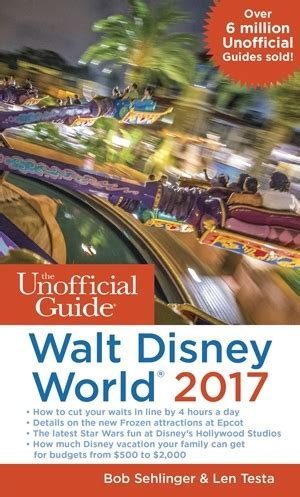 Walt Disney World Giveaway - the unofficial guide to walt disney world 2017 book review