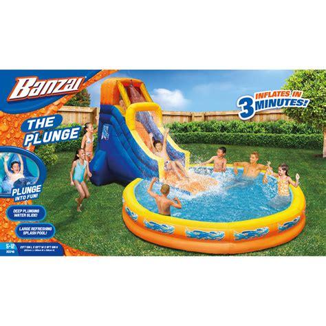 water slide toys r us banzai the plunge water slide ebay