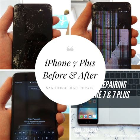 iphone 7 plus before and after cracked screen repair for iphones in la jolla also opening in