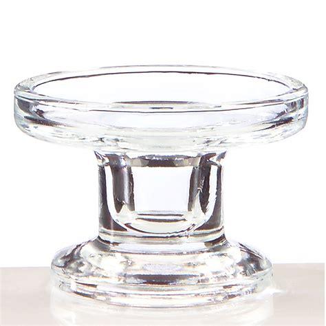 Glass Candle Pillars Clear Convertible Glass Duo Pillar Dinner Candle Holder