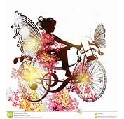 Fleurissez La F&233e Sur Un Symbole De Bicyclette L