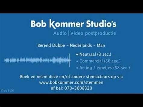 berend dubbe berend dubbe voice over stemdemo youtube