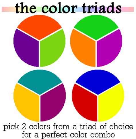 triad color color mixing dress up on a cloudy day