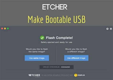 make memory card bootable etcher burn images to sd card make bootable usb