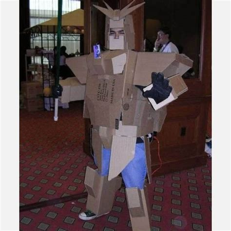 pola membuat baju robot dari kardus bad cardboard gundam costume costumes on the fine line