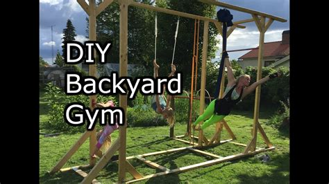 homemade backyard gym     simple youtube