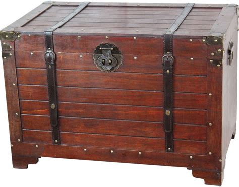 home decor storage steamer trunk antique style chest wood metal home decor
