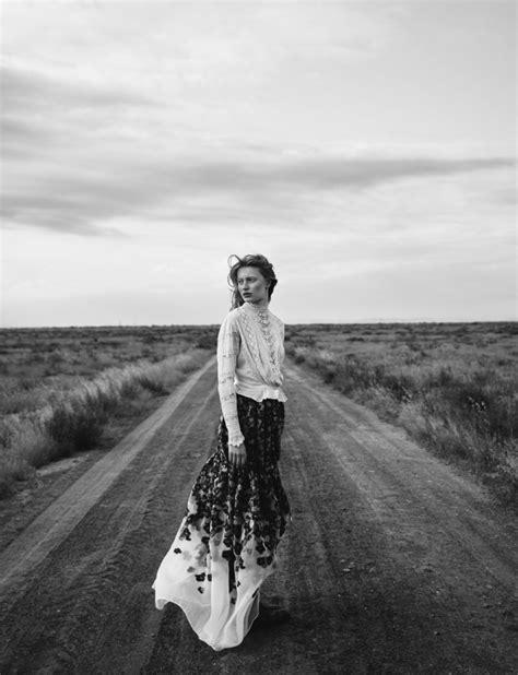 A semi-desert landscape sets the scene for high fashion drama