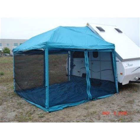 Coleman Classic Awning Paha Que Custom Screen Room For Chalet And Aliner Trailer