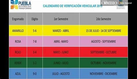 Calendario Verificacion Verificacion Vehicular 2016 En Puebla