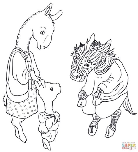 llama llama meets the teacher coloring page free