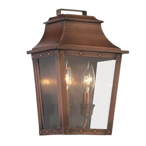 Acclaim Lighting Coventry Collection 2 Light Copper Patina Outdoor Lighting Copper