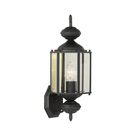 lighting brentwood 1 light black outdoor wall mount