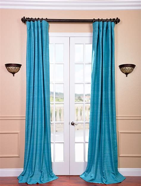 silk lined drapes cozumel blue raw silk curtain lined inter lined for