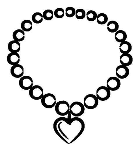 pearl necklace coloring page coloring book