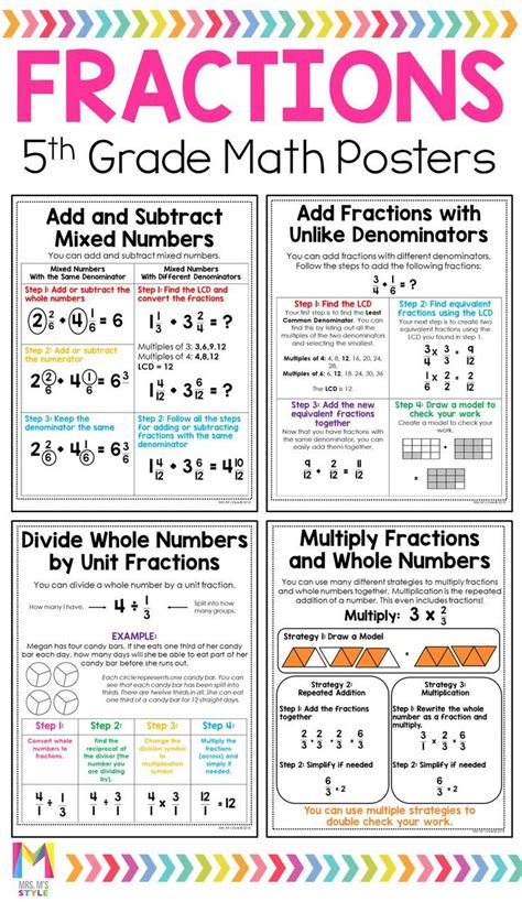 grade math posters distance learning  grade