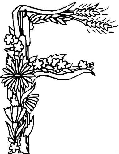 fiori e lettere immagini da colorare alfabeto fiori foglie pagina 3 di 4