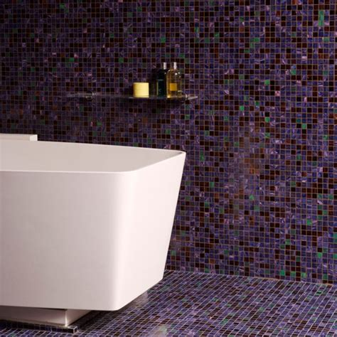 Bathroom Mosaic Tiles Ideas Floor To Ceiling Purple Mosaic Bathroom Tiles Bathroom Tile Ideas Housetohome Co Uk