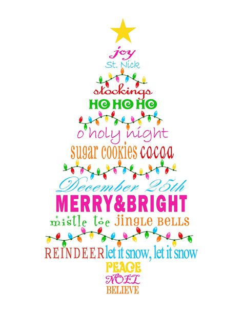 christmas word tree printable mbc merry bright christmas tree subway art printable