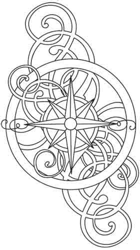 nautical mandala coloring pages nautical rose urban threads unique and awesome