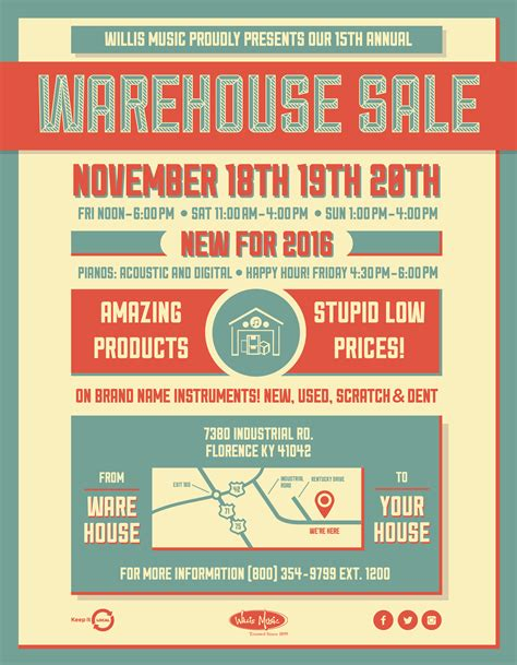 Warehouse Sale by Join Us For The 2016 15th Annual Warehouse Sale Willis