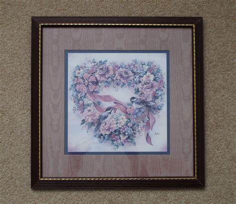 home interiors and gifts framed art vintage 1980s homco home interiors and gifts chickadee and