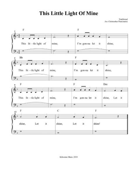 this light of mine lyrics gospel this light of mine sheet sunday