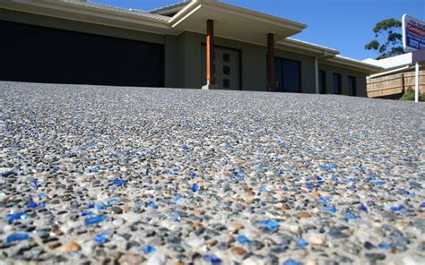 recycled glass countertops australia exposed aggregate concrete driveways melbourne