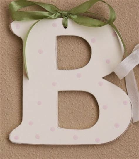 Pink Polka Dot Wooden Letters