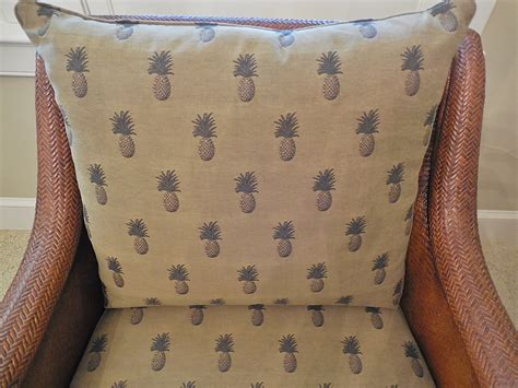ethan allen palm grove chair with custom pineapple fabric